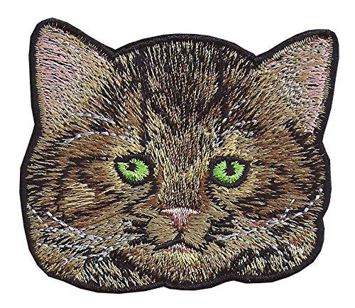 Katze Stil 6gestickte Applikation Nähen Eisen auf Patch Tiere Kätzchen Haustiere