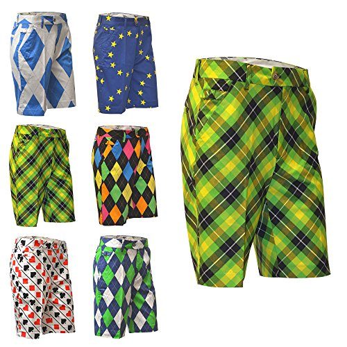 royal-awesome-plaid-electric-crazy-mens-golf-shorts