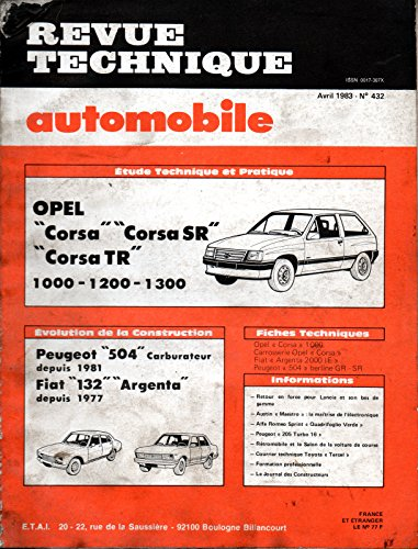 revue-technique-automobile-n-432-opel-corsa-1000-1200-1300-corsa-sr-tr