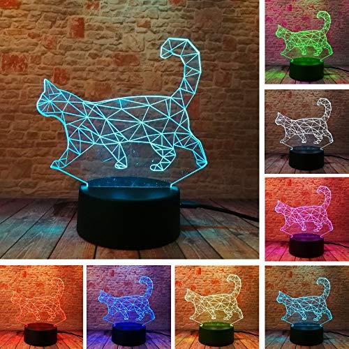 (dwqerwre 3D Nachtlampe Lampe Tisch Schreibtisch Home Decor Freund Familie Xmas Thanksgiving Geschenk)