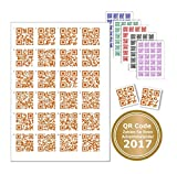 24 Sticker with QR Code For Every Job or Text. Code with Rake for finding the right Door Chens – Advent Calendar QR-Codes orange
