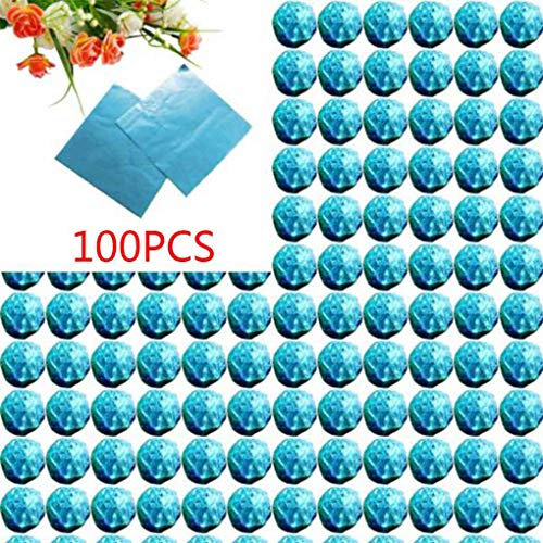 Zerama 100pcs Platz Aluminiumfolie Wrappers Bunte Paket für Süßwaren Süßigkeit Schokolade Lollipops