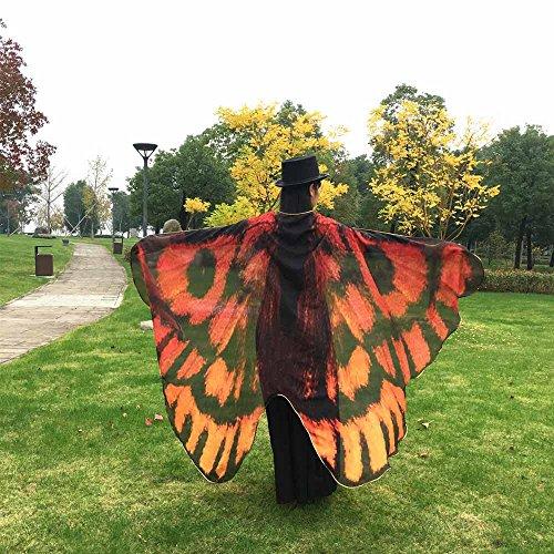 Oyedens Frauen Schmetterlings Flügel Schal Damen Schmetterling Kostüm Schmetterling Schal Flügel Pfau Schmetterling Flügel Schal