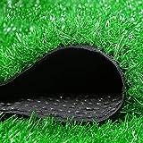 Artificielle Herbe Tapis 2 pièces, tapis de gazon artificiel intérieur, gazon artificiel de Marseille hauteur 20 mm, gazon naturel et réaliste à la recherche d'un jardin astro réaliste, faux gazon hau