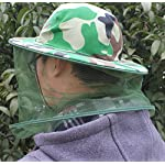 Katech Camouflage Beekeeping Hat Beekeeper Anti-mosquito Face Mask Outdoor Fishing and Camping Mosquito Netting Hat Protective Equipment 14