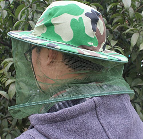 Katech Camouflage Beekeeping Hat Beekeeper Anti-mosquito Face Mask Outdoor Fishing and Camping Mosquito Netting Hat Protective Equipment 7