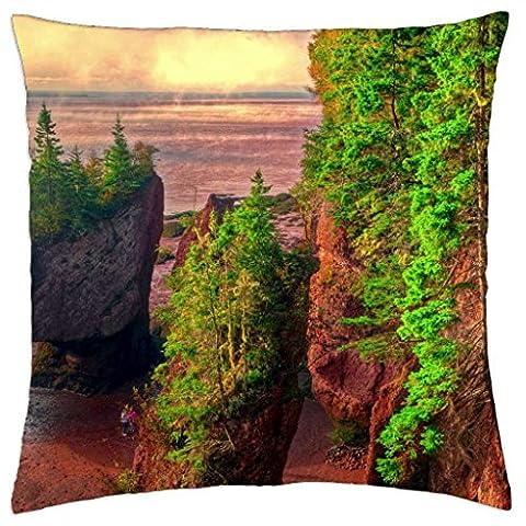 Hopewell (Rocks, Bucht von Fundy, Brunswick–Überwurf Kissenbezug Fall (45,7x 45,7cm)