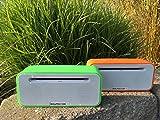 SOUND2GO BRIQ STUDIO - Bluetooth 3.0 Stereo Lautsprecher mit NFC-Technologie, Freisprecheinrichtung und Micro-SD-Slot - Grün