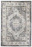 Carpeto Orientalisch Teppich Vintage 60 x 100 cm Grau