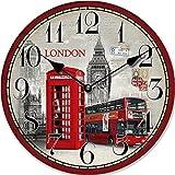 RELOJ DE PARED DISENO LONDON POSTAL CABINA TELEFONICA 30CM MODERNO - Tinas Collection