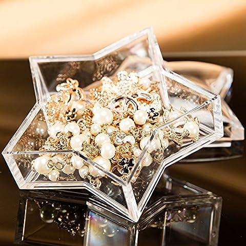 Star-shaped Jewelry Candy Storage Box with Lid Acrylic Choice Fun