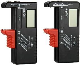 GuDoQi 2 Stück Digitaler Batterietester Multi-Funktions Batterie Testgerät Für Haushalt AA AAA C D 9 V 1,5 V und Knopfzellen