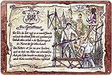 Geschenk Gerüstbauer Gerüstbau Blechschild 30 x 20 cm