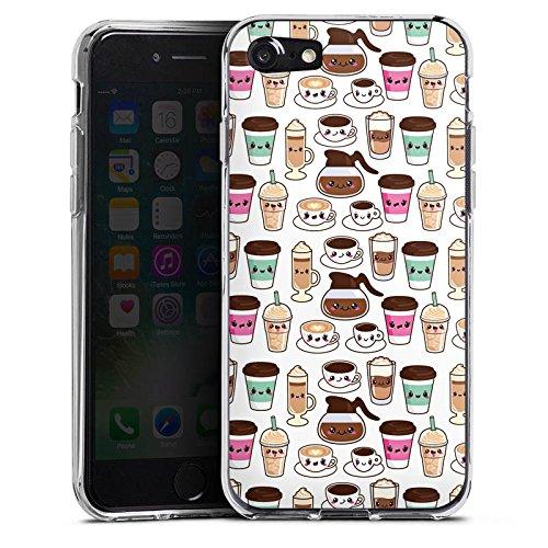 Apple iPhone X Silikon Hülle Case Schutzhülle Kaffee Coffee Kawaii Manga Style Silikon Case transparent