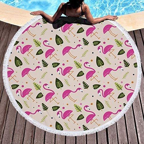 Baifeng Rund Strandtuch Decke Mikrofaser Yoga Matte mit Quasten Ultra Soft Super Wasser saugfähig Mehrzweck-Handtuch (zufällige Farbe)