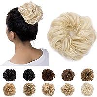 Silk-co Ciambella per Chignon Extension Elastico Posticci per Scrunchie Chignon Capelli Finti Hair Bun Updo Coda Capelli…