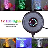 Kuty Illuminazione Acquarioe, Lampada da Acquario a LED con Decorazione a Bolle d'aria per Acquari 12 LED air pump not include