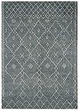 Asiatic Teppich Wohnzimmer Orient Carpet Design Amira MOROC CAN Rug 100% Wolle 200x300 cm Rechteckig Blau | Teppiche günstig online kaufen