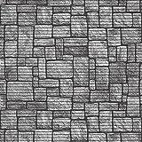 (7,49€/m) Weichschaummatte Antirutschmatte Badezimmermatte Sicherheit Badvorleger Badezimmer WC Meterware - Küche 65cm breite | Farbe : Steine grau 584-3