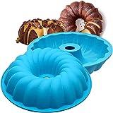 NALCY Moule à Kouglof en Silicone, Moule à Brioche en Silicone, Moule en Spirale antiadhésif, utilisé pour Faire des gâteaux,