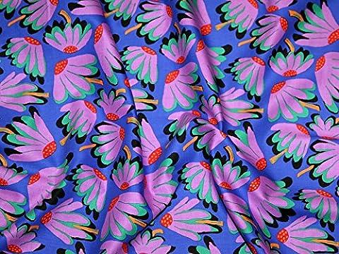 Rowan Brandon Mably (begriffsklärung) Fall 2014Lazy Daisy Popeline Quilting Stoff, Meterware, Dunkelgrau + Gratis Minerva Crafts Craft Guide
