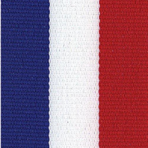 White Stripe Grosgrain (Zipperstop 5 Yds Patriotic Stripe Grosgrain Ribbon, 7/8 Inch - Red/White/Blue + One Yd Custom Print)