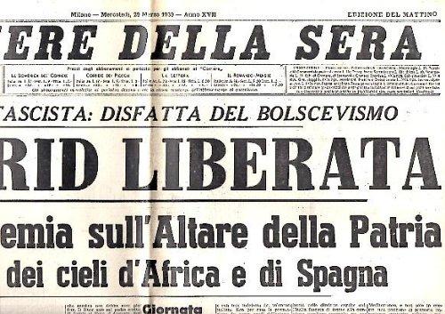 CORRIERE DELLA SERA. AÑO LXIV. N. 75. 29-MARZO-1939.