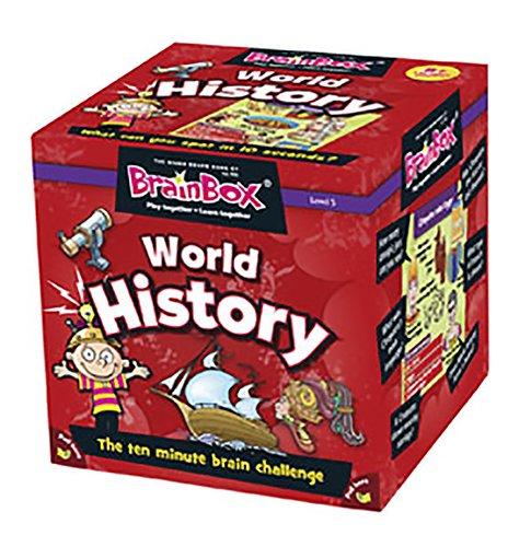 Imagen principal de Green Board Games Brain Box - Juego de preguntas sobre historia mundial (en inglés)