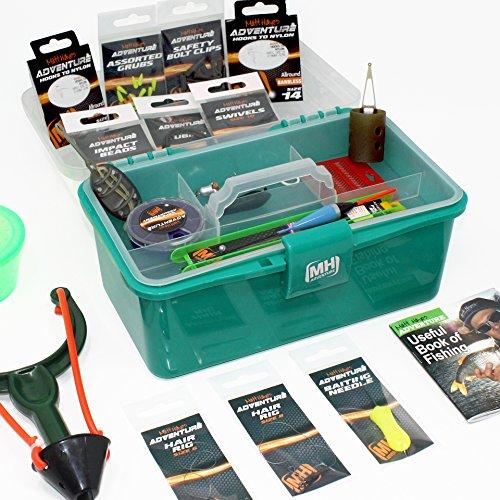 Matt Hayes Adventure–Karpfen- und Süßwasserangeln geladen Zubehör Terminal Tackle Box Set–für Float und Methode Angeln Tackle [99–7476228]