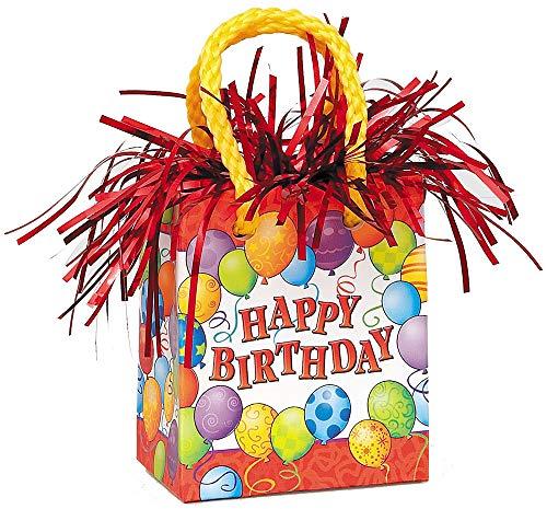 Unique Party Supplies ênico Ballon Gewicht-Happy Birthday-Geburtstag Bunte Ballons sind Deko und Folien Ballons