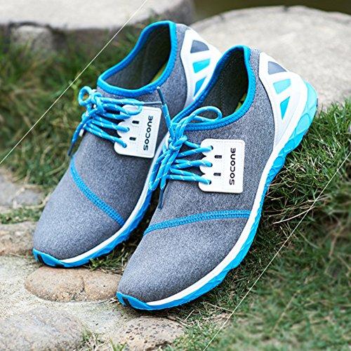 Hommes / Femmes Chaussures De Sport Extérieur Lace Up Sneaker Walking Femmes bleus