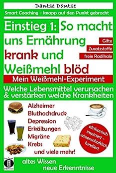 Einstieg 1: So macht uns Ernährung krank & Weißmehl blöd: Welche Lebensmittel verursachen & verstärken welche Krankheiten?: Chemikalien, gefährliche E-Stoffe, ... Coaching - knapp auf den Punkt gebracht)