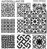 Autocollant.fr 1 Stickers Carreaux de Ciment modèle Venise de 20 cm | Finition Brillante| Stickers carrelage par 1 pièces | Italie-Serie-3