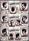 Publi 2000 Plaque publicitaire vintage avec inscription «Barber Shop Classic» et photos de différentes coupes de cheveux, plaque en PVC de 20x 14cm, impression autocollante...
