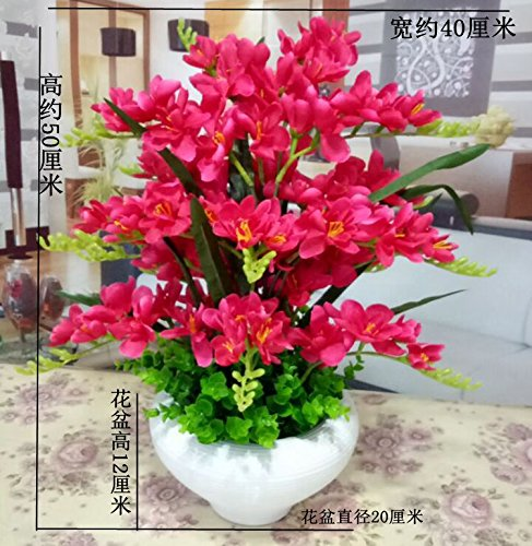 LIXIAOXIN Butterfly Orchid Topfpflanzen Dekoration False Simulation Rose Rot