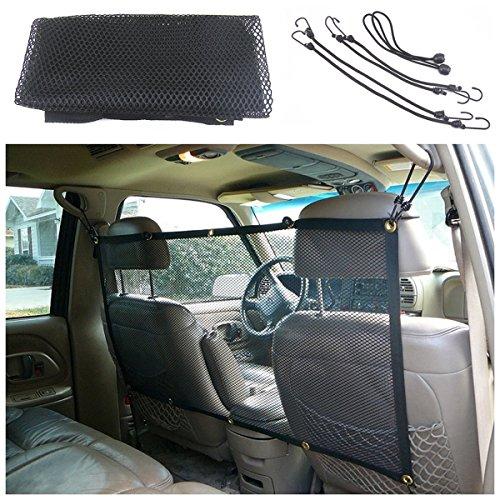 Auto-Sicherheitsnetz und Gepäcknetz mit vier Haken für Haustiere für alle Fahrzeugtypen, auch Kombis und SUVs, 115cm x 62cm