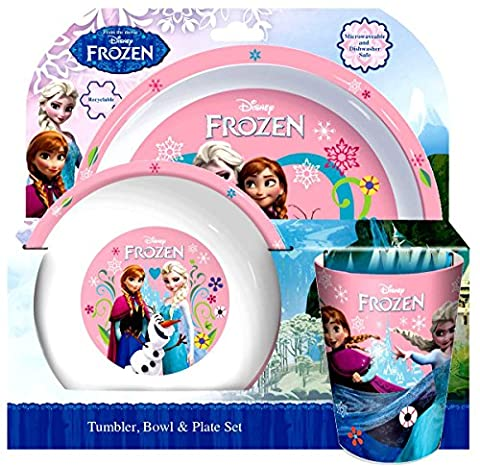 Disney Frozen 'Follow Your Heart' 3-Piece Dinner Set   Tumbler, Bowl and Plate by Disney