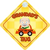 Grandad's Taxi Car Sign Funny Novelty Gift/Present Baby on Board Style Sign
