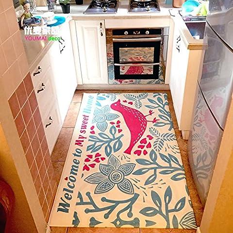 FQG*nei paesi nordici, americane e giapponesi ROK-Faller fusselfreien rutschfeste idratazione ultra-molle-elastica cucina tappeto piedi del tetto, bagno completo, 90*160cm, beige,
