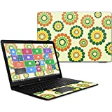 """MightySkins Skin For HP 17t Laptop 17.3"""" (2017) - Hippie Flowers 