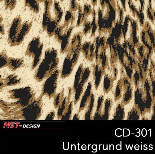 Wassertransferdruck 2 Meter Lfm I CD-301 Tier Leopard I 2 Laufmeter Film in 50 cm Breite I...