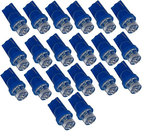 AERZETIX: Lot de 20 ampoules T10 W5W 12V à LED (Bleu)