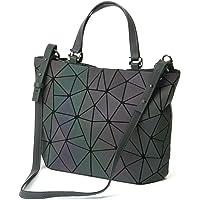 Frauen Top-Henkeltaschen Geometrische leuchtende Tasche PU-Leder Geldbörsen Daypacks Brusttasche Handtaschen…
