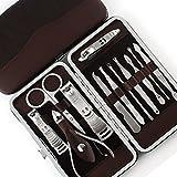 Foolzy-Brown-Manicure-Pedicure-Set-kit-with-12-Tools-(MSPLAINBROWN)