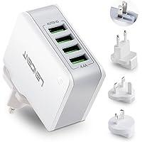 LENCENT Caricatore USB, [Auto-ID Tecnologia] Caricabatterie da Muro Portatile Adattatore da Viaggio Alimentatore USB con…