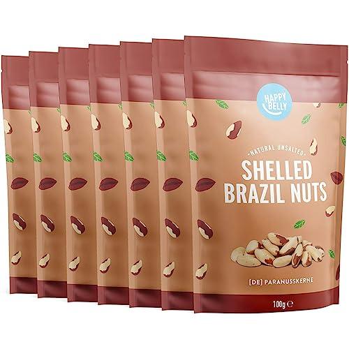 Marchio Amazon - Happy Belly Noci del Brasile sgusciate, 7 x 100g