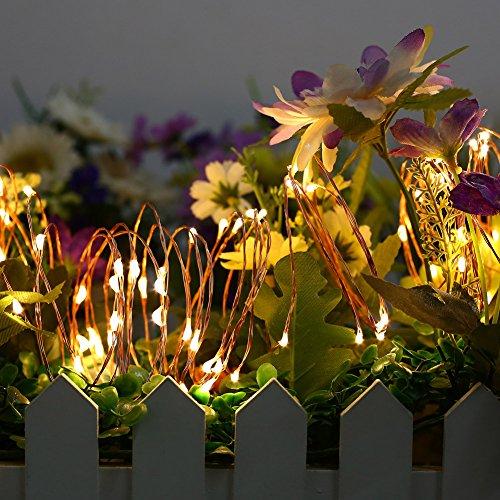 Catena Luminosa, Daping Stringa Luci LED Natalizie, 150 LED, Filo