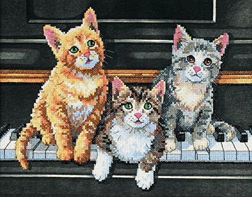 Dimensions Stickerei Set - inch Musikalisches Trio inch Design / Kreuzstich -