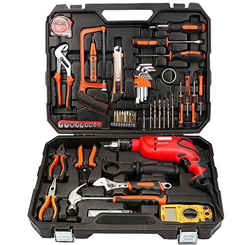 Slongda DIY Schlagbohrmaschine ID7133A, Tiefenanschlag, Zusatzhandgriff, Koffer (710 Watt, max. Bohr-Ø: Holz: 25 mm, Beton: 10 mm, Stahl: 8 mm)