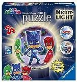Ravensburger 11771, Puzzle 3D Lampada Notturna, PJ Masks